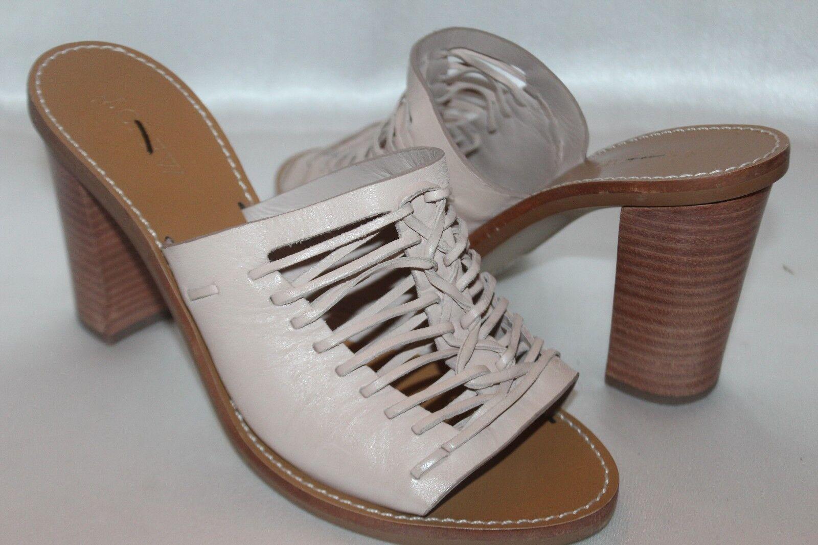NEW  J CREW Woven Slides Nude Leder Open Toe Slides Woven Sandales Heels Sz 8 158 c85d91