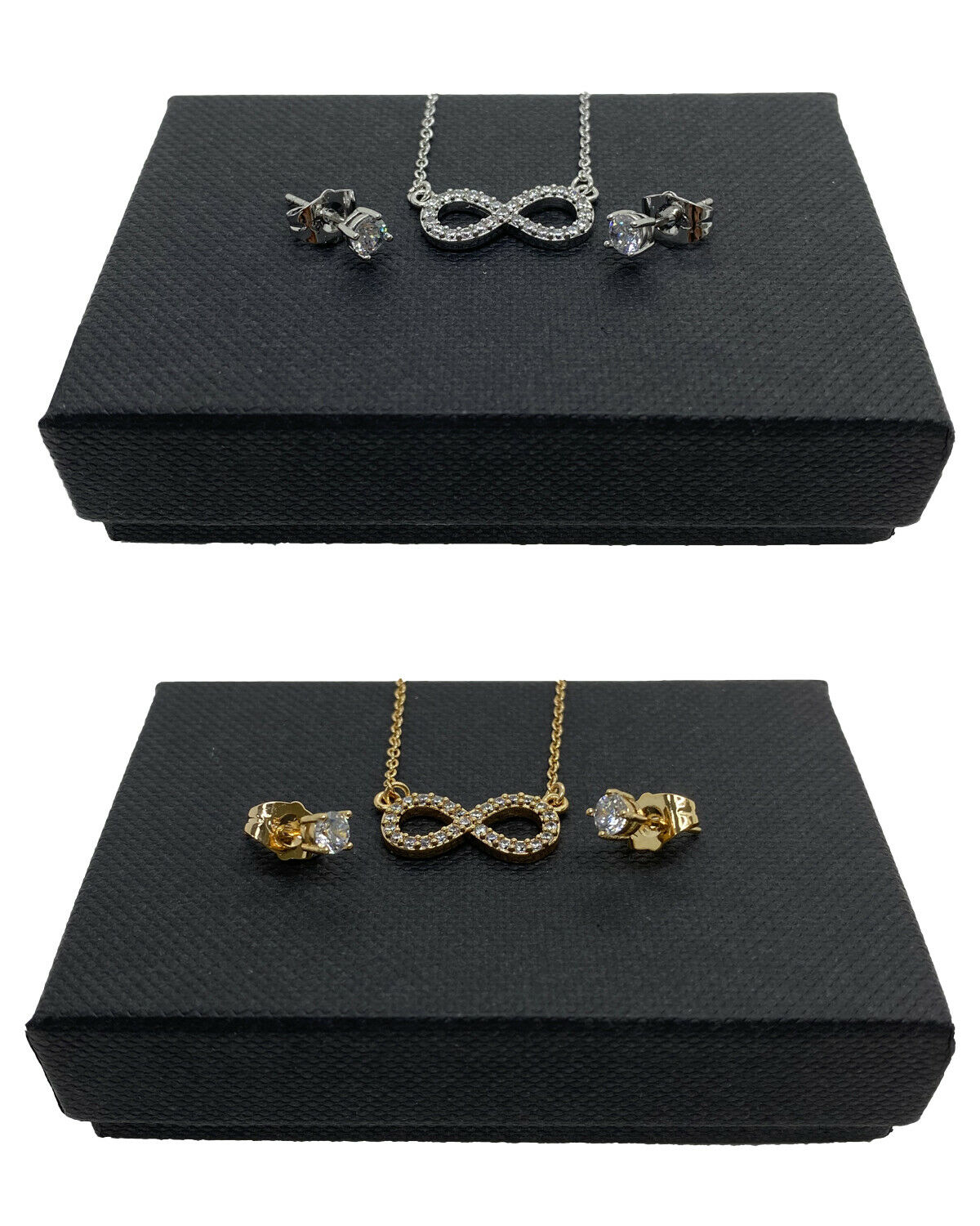 Infinity Necklace Chain Crystal Pendant Silver/Gold Filled Women Ladies Gift