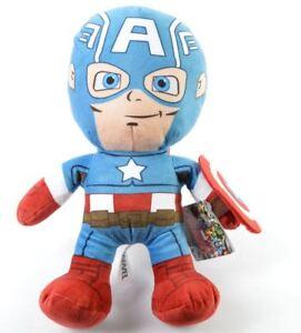 Marvel-Chunky-Captain-America-Super-Hero-Squad-12-034-30-cm-Plush-Soft-Toy
