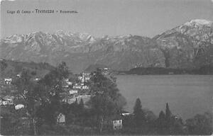 """Sammeln & Seltenes Lago Di Como """" Tremezzo Panorama """"2975"""" Unbeschrieben Um 1920 Kleinformat"""