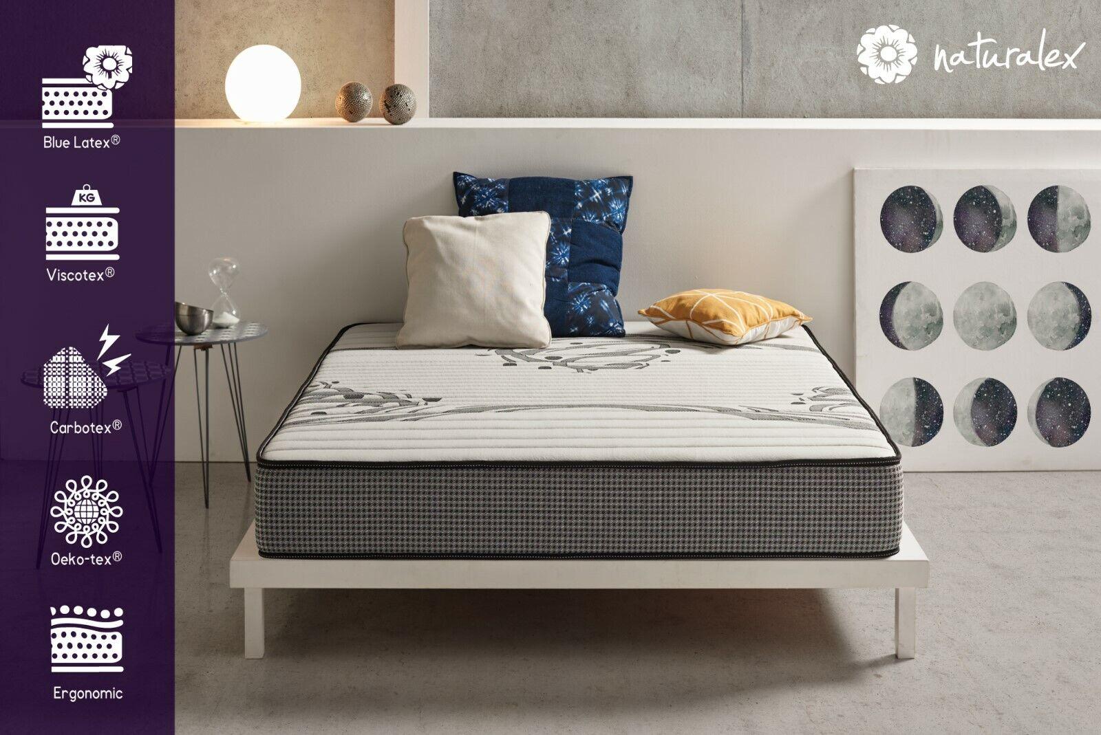 Naturalex   Pure Luxury Memory Foam Mattress 22cm Deep   Carbotex Fabric 7 Zones