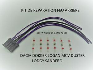 kit de reparation feu arriere porte ampoules dacia sandero logan mcv duster ebay. Black Bedroom Furniture Sets. Home Design Ideas