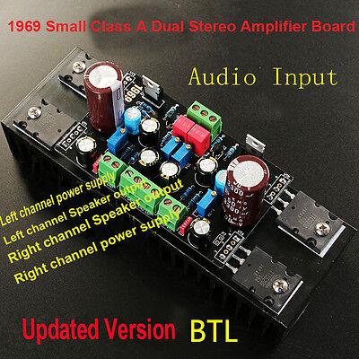 DC 12V-18V 1969 Small Class A Dual Stereo Amplifier Board Module Assembled BTL