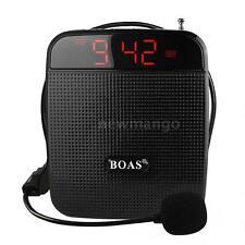 BOAS Loud Speaker Voice Amplifier FM Radio MP3 Player w/ Microphone Guide Teach
