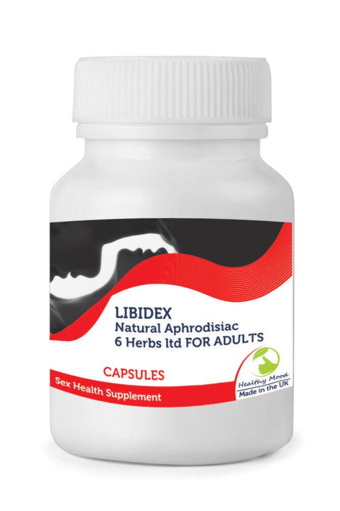 s l1600 - Libidex 6 Hierbas Ltd Adultos Sexo Vitaminas 30/60/90 /120/180/250 Cápsulas