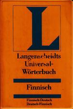*- Langenscheidts UNIVERSALwörterbuch - FINNISCH - (1989)