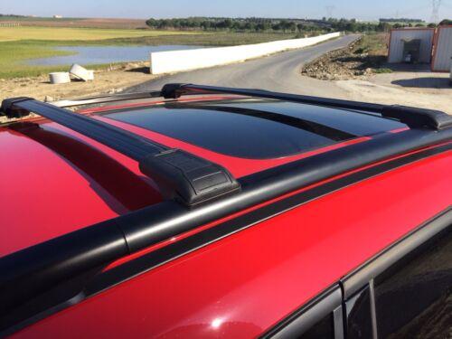 SKODA OCTAVIA ESTATE LOCKABLE ALUMINIUM CROSS BARS RACK 75 KG LOADING BLACK
