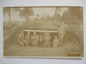 Artillery-Soldiers-With-Gun-IN-Shelter-Photo-Card-37162