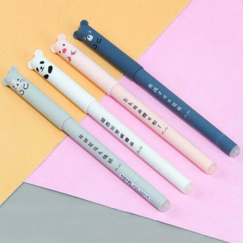 0,35mm Nette Kawaii Cartoon Katze Gel Ink Pen Kugelschreiber D5I9 Tinte Bla B6W1