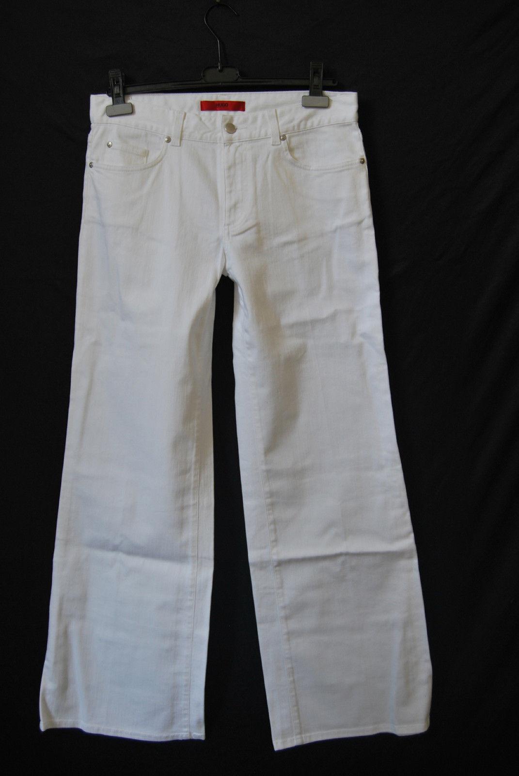 Hugo BOSS Jeans Hose W28 L34 WEICH  STRETCH wide leg Marlene 189,- EDEL  D-1594