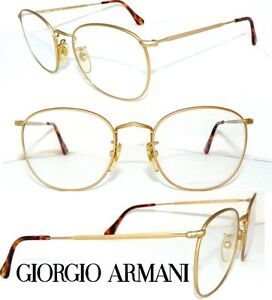 giorgio armani brille ga 130 matt gold panto rund herren. Black Bedroom Furniture Sets. Home Design Ideas
