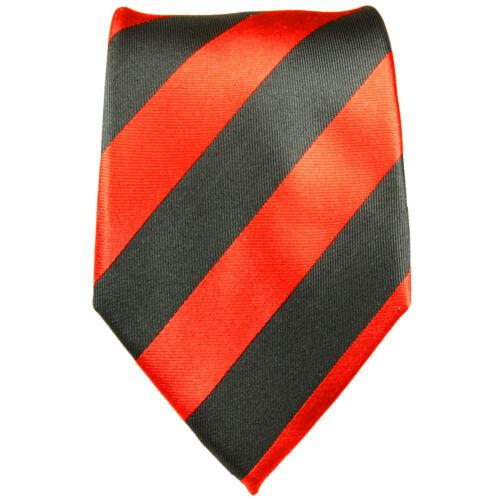 rote Seidenkrawatte 719 Paul Malone Krawatte Seide rot schwarz gestreift