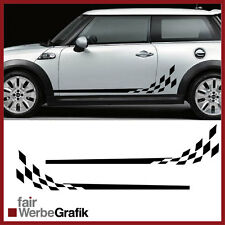 GT3 Look für alle Mini Cooper Modelle Racing Rennflagge Aufkleber #112