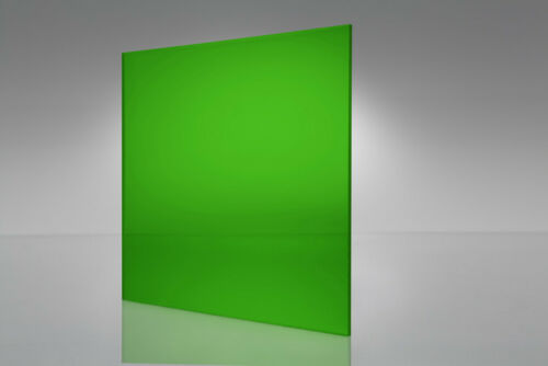 "#2092 Green Transparent Acrylic Plexiglass sheet 1//4/"" x 12/"" x 24/"""
