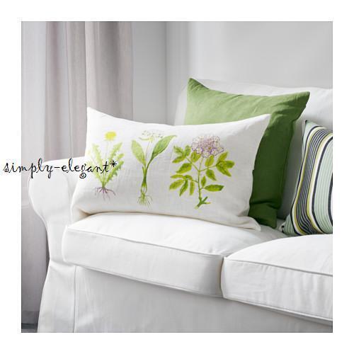"IKEA Dorthy Cushion Throw Pillow Cover 16 X 26"" 100 Natural Ramie"