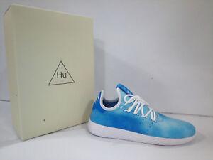 Scarpe Adidas Uomo Pharrell Williams Hu Holi Tennis Azzurro Bianco DA9618