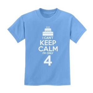 Birthday Cake I Can/'t Keep Calm I/'m 5 Children/'s Cute Kids T-Shirt Gift Idea