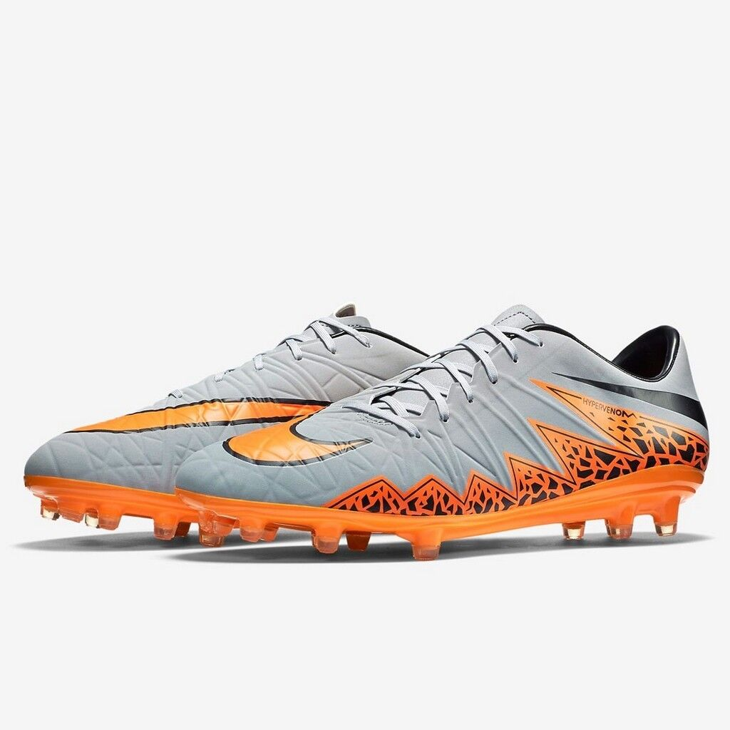 amante estera nivel  Nike Hypervenom Phatal II FG Wolf Grey Orange Black soccer cleat 749893-080  for sale online