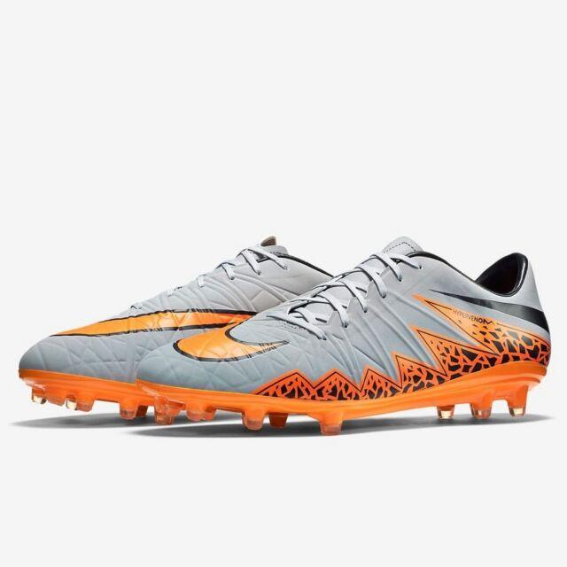 cd81fa8dc0 Nike Hypervenom Phatal II FG Wolf Grey Orange Black soccer cleat 749893-080