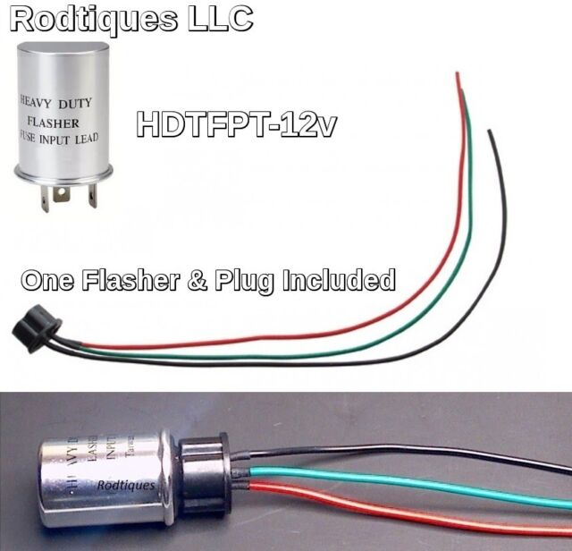 12 Volt Heavy Duty 3 Prong Turn Signal Flasher Flasher Plug Pigtail GM for  sale online   eBay   3 Prong Turn Signal Flasher Wiring      eBay