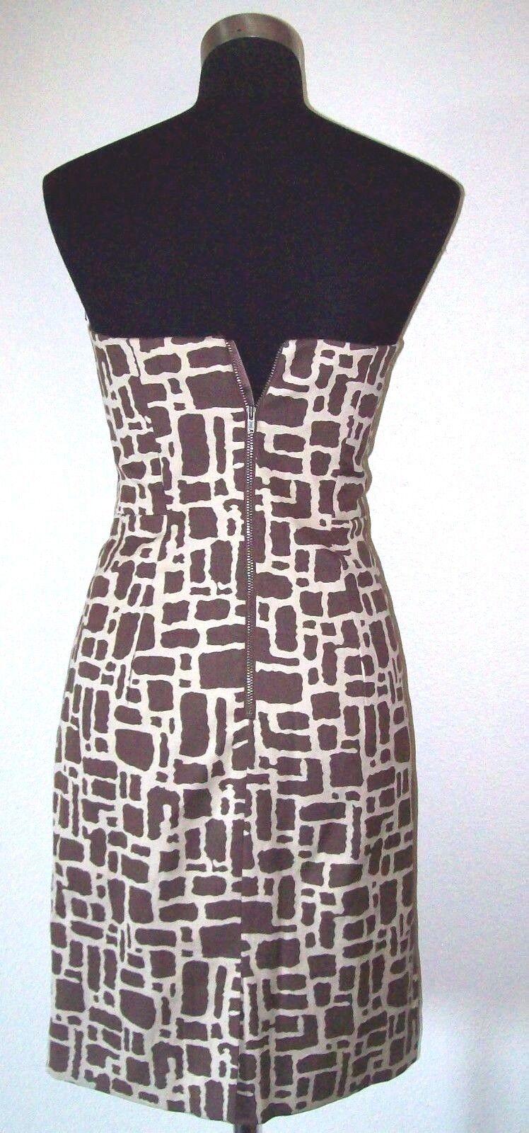 ffab74c1 ... Milly New York Dress 2 Sheath Silk Strapless Brown Brown Brown Beige  Satin Lined Cotton S ...