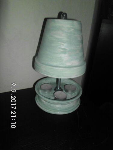 Farben 3 Teelichter Teelichthalter 23cm ver Tischkamin Teelichtofen