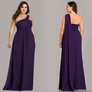 Ever-Pretty US Plus Size Bridesmaid Dresses One Shoulder Evening ...