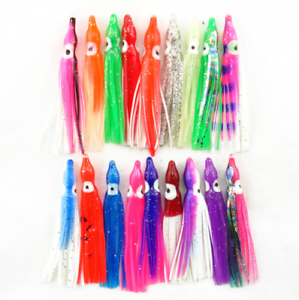 50pcs//set Octopus Squid Skirt Lures Bait Hoochies Saltwater Soft Fishing Lure