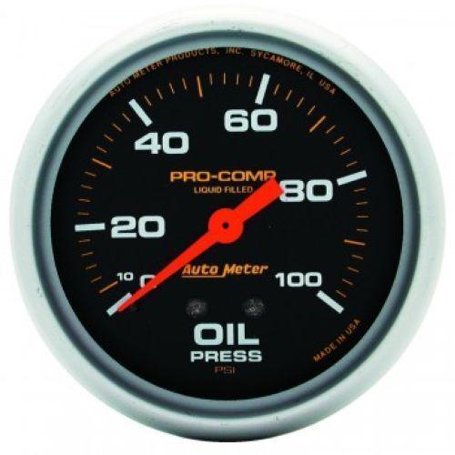 "Auto Meter 5421 2-5//8/"" Pro-Comp Mechanical Oil Pressure Gauge 0-100 PSI"