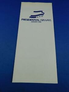 PRESIDENTIAL-AIRWAYS-AIRLINE-TIMETABLE-SCHEDULE-JANUARY-1986-ADVERTISING-TRAVEL