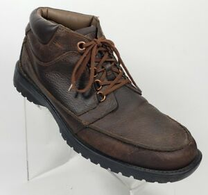 Timberland-Mens-Sz-11-M-Ankle-Boots-Hiking-Casual-Lace-up-Brown-Leather-GB