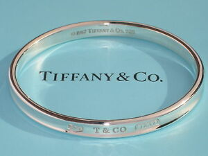 ee138e22b Tiffany & Co. Sterling Silver 33.5 Grams 1837 Oval Bangle Bracelet ...