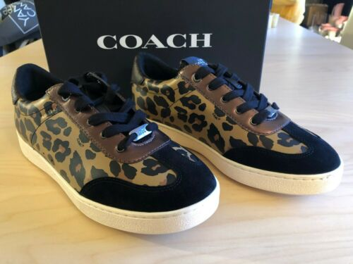 Donna Msrp225 Nuovoeac5d28c1f1511d513db14f24eb56870 Sneakers Fg3152 Pelle leopardo Coach scamosciata 88 5 Taglie 7 WDHI2YE9