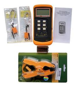 Doble-Canal-K-Tipo-Digital-Termopar-Termometro-6802-Ii-Tubo-Abrazadera-HVAC