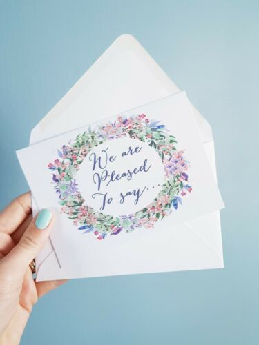 IVF Baby pregnancy announcement new baby card