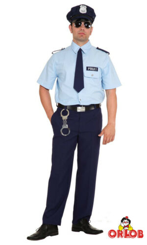 Orlob Police Costume Cravate American Police Cop Messieurs costume carnaval
