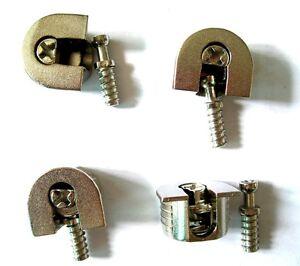 4 Pcs Set Thread Concealed Mount Minifix Shelf Support Bracket Shelves Holder Ebay