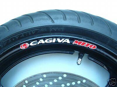 CAGIVA MITO WHEEL RIM STICKERS DECALS MANY COLOURS