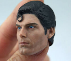 1-6-Superman-Christopher-Reeve-Male-Head-Sculpt-Carved-Model-Fit-12-034-Figure-Doll
