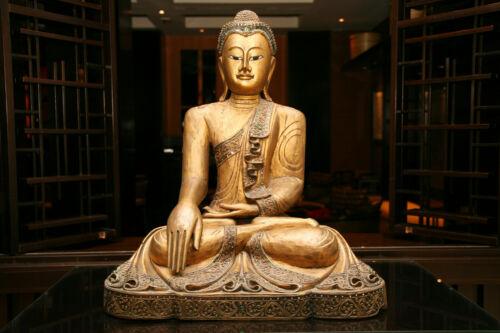 -Asiatisch Asien Tibet Deko Wandtapete VLIES Fototapete-GOLDENER BUDDHA- 1313V