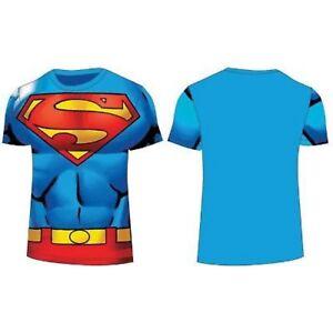 0eaafdf7c1581 licence officielle DC Comic Superman enfant bleu t-shirt manche ...