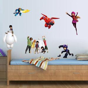 Baymax 3D Pared Adhesivo Desmontable Big Hero 6 Mural Calcomanía Vinilo Niño Decoración del hogar