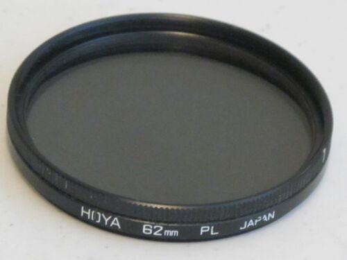 EXCELLENT++ 62mm HOYA Polarizer Linear Polarizing Filter #62602hc
