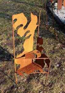 038-EDELROST-Blume-Pflanzgestell-Skulptur-Rost-Gartendeko-Edel-Dekoration-Metall
