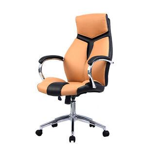 Ergonomic Pu Leather High Back Executive Computer Desk