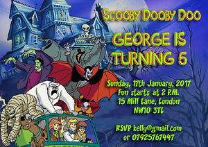 image is loading 10 x personalised birthday party invitations scooby doo