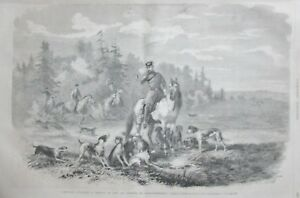 Russia-Emperor-Alexander-II-Hunting-Aux-Wolves-Engraving-L-Universe-Illustre-Of