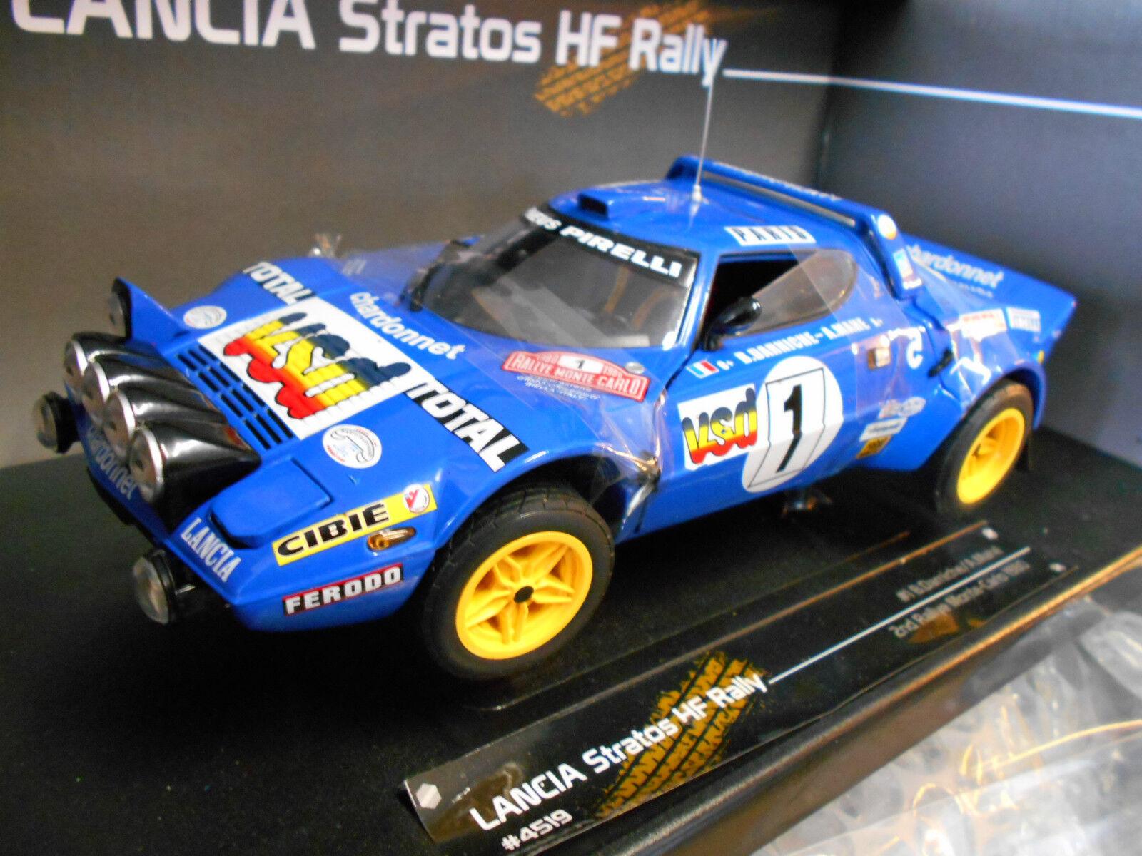 más orden Lancia Stratos Stratos Stratos HF Rally de Monte Cochelo 1980 Darniche  1 2. place SunEstrella nuevo 1 18  mejor moda