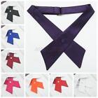 Fashion Uniform Bowties Womens Men Bow Ties Necktie Solid Color Party Wedding
