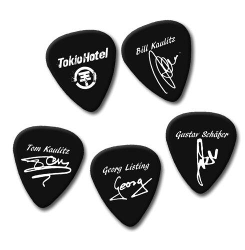 Tokio Hotel Bill Kaulitz Tom Georg signature print plectrum guitar pick picks